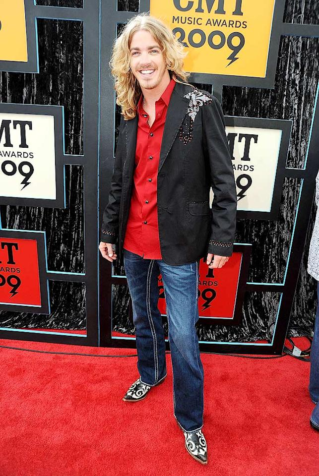 "Former ""American Idol"" contestant Bucky Covington made the mistake of pairing a bedazzled blazer with a cherry red shirt and loud cowboy boots. Jeff Kravitz/<a href=""http://www.filmmagic.com/"" target=""new"">FilmMagic.com</a> - June 16, 2009"