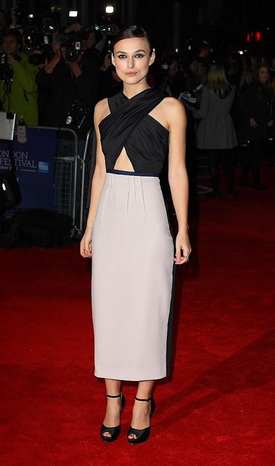 "Keira Knightley is also a fan of Roksandra Ilincic's work and wore one of the designer's dresses to the London premiere of ""A Dangerous Method."" What do you make of the garment's crisscross bodice, keyhole detail, and rarely seen length? Hot or not? (10/24/11)"