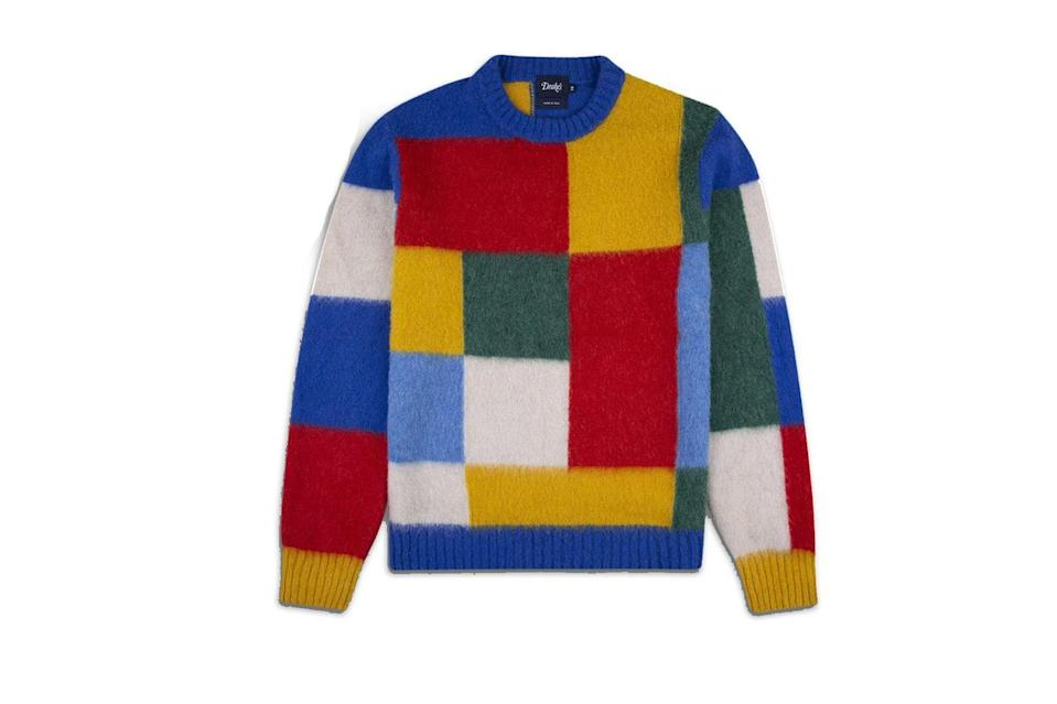 "$535, Drake's. <a href=""https://www.drakes.com/usa/what-s-new/primary-colour-block-brushed-lambswool-jumper"" rel=""nofollow noopener"" target=""_blank"" data-ylk=""slk:Get it now!"" class=""link rapid-noclick-resp"">Get it now!</a>"