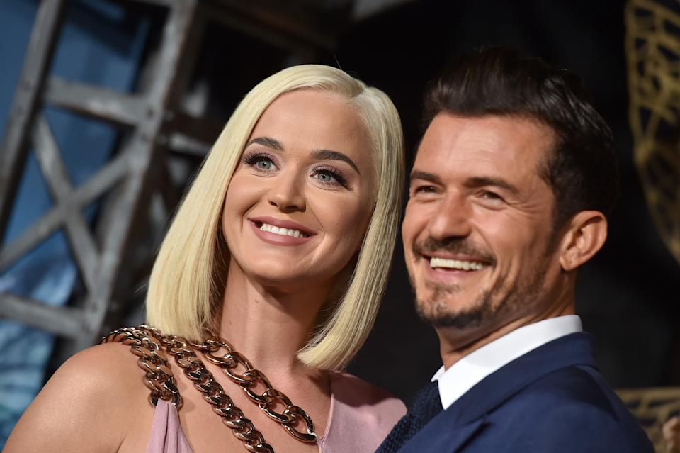 "Katy Perry and Orlando Bloom attend the LA Premiere of Amazon's ""Carnival Row"" at TCL Chinese Theatre on August 21, 2019 in Hollywood, California. (Photo by Axelle/Bauer-Griffin/FilmMagic)"