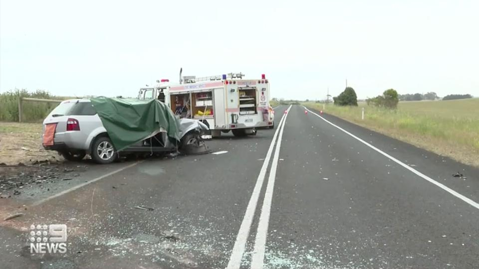 Three people were killed in a head-on collision in South Australia on Saturday. Source: Nine News
