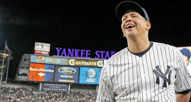 Alex Rodriguez played his last game with the Yankees on Aug. 12, 2016. (AP)
