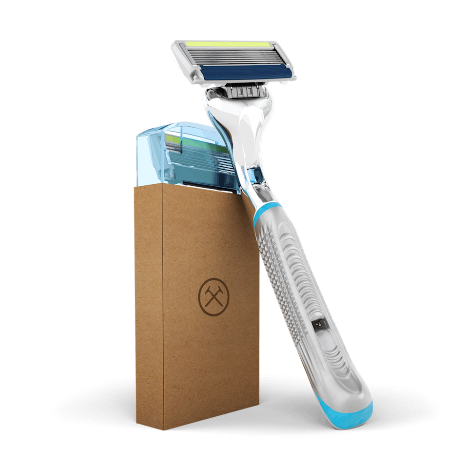 """Want the best razors without the price tag? Consider Dollar Shave Club, a subscription model that's ideal if you want to keep it simple. Dollar Shave has you covered with a refillable razor and cartridges with your choice of two, four, or six (!) blades, plus shaving cream for one-stop shopping. $5, Dollar Shave Club. <a href=""""https://www.dollarshaveclub.com/get-started/plan/shave"""" rel=""""nofollow noopener"""" target=""""_blank"""" data-ylk=""""slk:Get it now!"""" class=""""link rapid-noclick-resp"""">Get it now!</a>"""