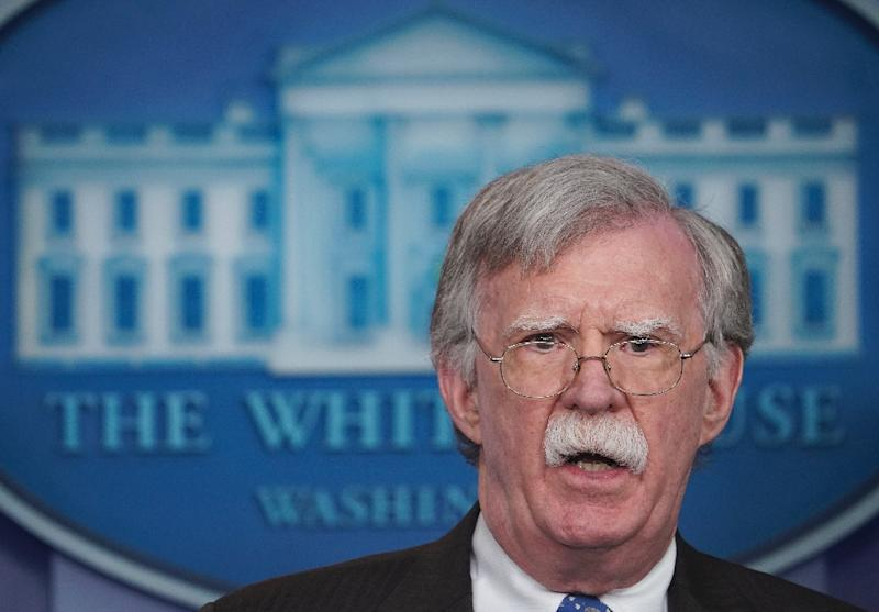 US national security adviser John Bolton, seen here in January 2019, has emphasized the US commitment to the Taiwan Relations Act, which obliged Washington to provide the self-governing island with the means of self-defense