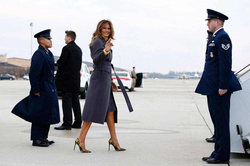 First lady Melania Trump left Washington Monday for a two-day, three state overnight trip to promote her Be Best campaign.