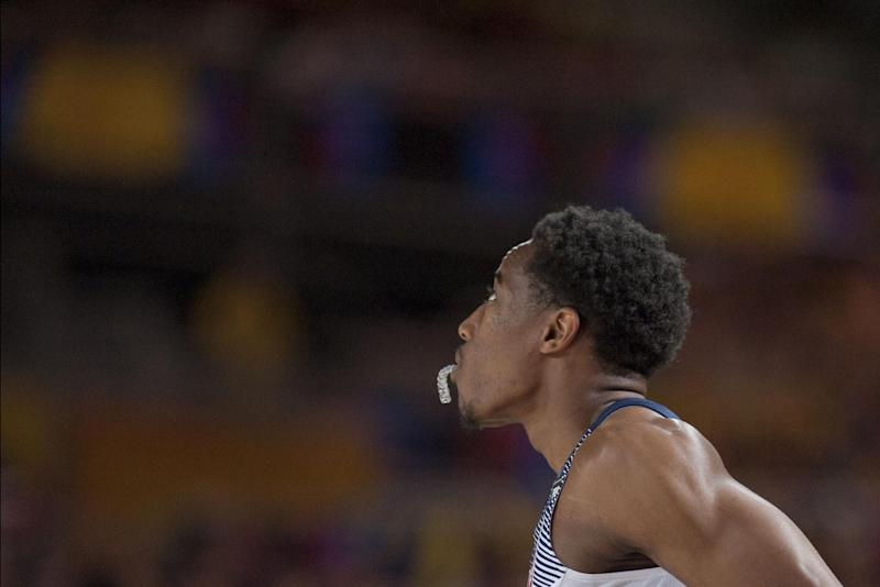 United States's DeMar Derozan, looks at the score during the Group C Basketball World Cup match against New Zealand, in Bilbao northern Spain, Tuesday, Sept. 2, 2014. The 2014 Basketball World Cup competition take place in various cities in Spain from  last Aug. 30 through to Sept. 14.  United States won 98-71