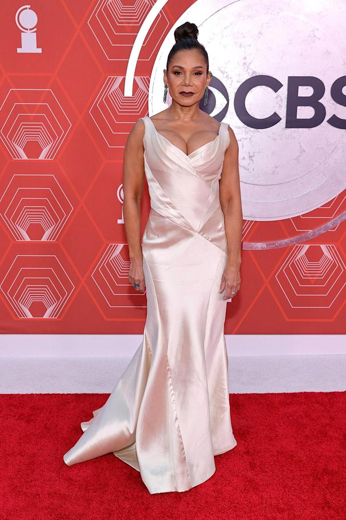 <p>Rubin-Vega, who recently appeared in the film adaptation of <em>In the Heights</em>, channeled Old Hollywood on the red carpet. </p>