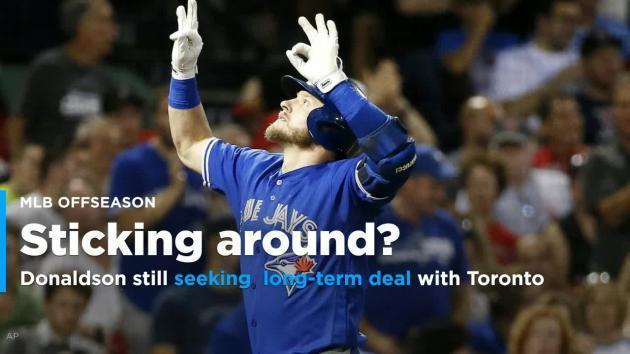 <p>Josh Donaldson is still seeking a long-term deal with the Blue Jays</p>