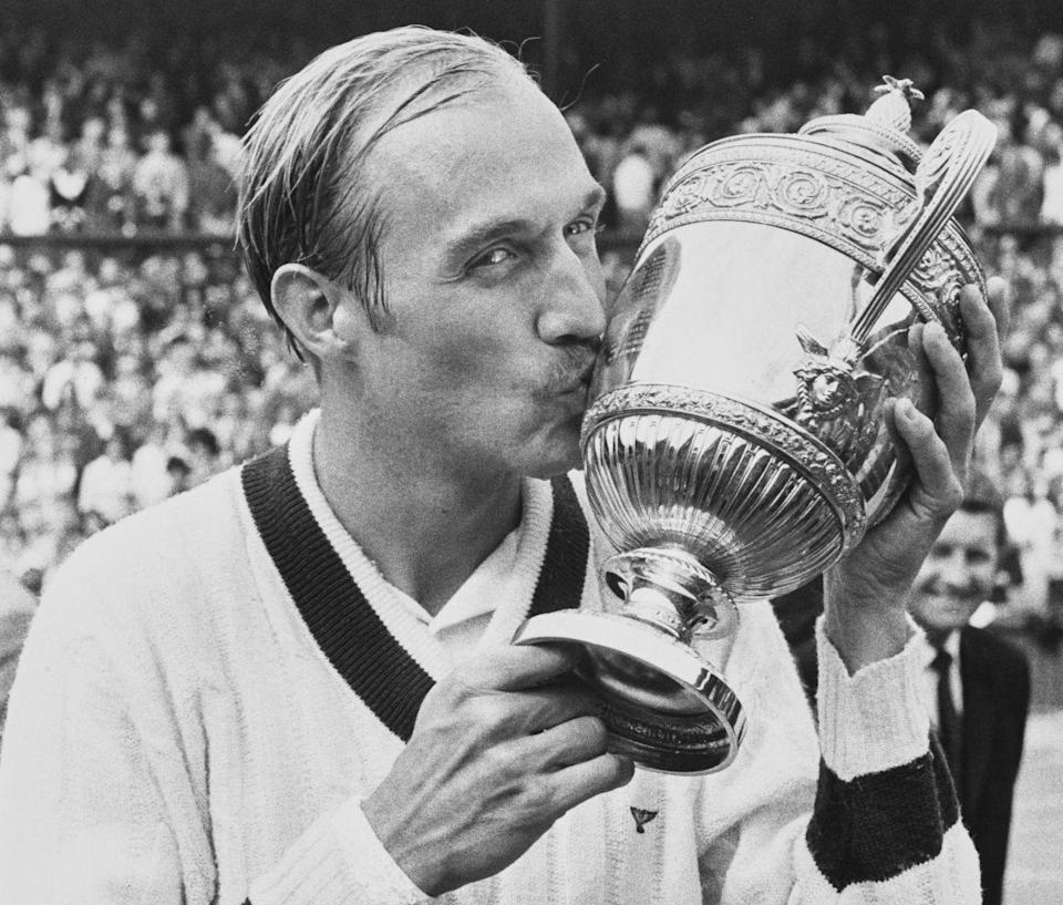 <p>Stan Smith after his victory over Ilie Nastase n their Men's Singles Final match in July 1972.</p>