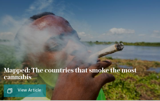 Mapped: The countries that smoke the most cannabis