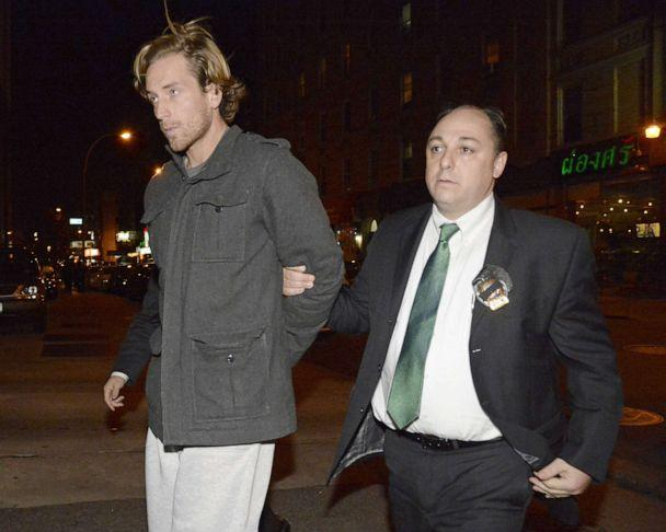 PHOTO:Thomas Gilbert, Jr. is walked into Central Booking at Manhattan Criminal Court,<p>Jan. 5, 2015. Gilbert is charged with murdering his father, hedge fund owner Thomas Gilbert, Sr. (Jefferson Siegel/New York Daily News via Getty Images)