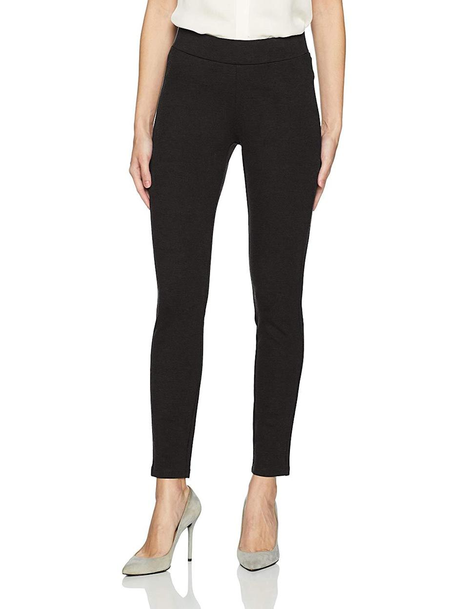 "<h3><a href=""https://www.amazon.com/NYDJ-Womens-Basic-Ponte-Leggings/dp/B06XL1DW1M"" rel=""nofollow noopener"" target=""_blank"" data-ylk=""slk:NYDJ Basic Pull On Ponte Knit Leggings"" class=""link rapid-noclick-resp"">NYDJ Basic Pull On Ponte Knit Leggings</a> </h3><br><br>4.2 out of 5 stars and 37 reviews<br><br><strong>Promising Review:</strong> Searching for comfortable leggings to travel in that don't look like, well, leggings? Look no further. Commenter <a href=""https://www.amazon.com/gp/customer-reviews/R3B53DKBQR7MF1"" rel=""nofollow noopener"" target=""_blank"" data-ylk=""slk:Bird"" class=""link rapid-noclick-resp"">Bird</a> writes, ""Love these leggings. They have a great fit, do follow directions and get one size down. I love them for long flights and travel. They wash really well.""<br><br><strong>NYDJ</strong> Basic Pull On Ponte Knit Leggings, $, available at <a href=""https://www.amazon.com/NYDJ-Womens-Basic-Ponte-Leggings/dp/B06XL1DW1M"" rel=""nofollow noopener"" target=""_blank"" data-ylk=""slk:Amazon"" class=""link rapid-noclick-resp"">Amazon</a>"