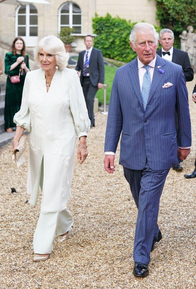 The Prince of Wales and the Duchess of Cornwall at the A Starry Night In The Nilgiri Hills charity event