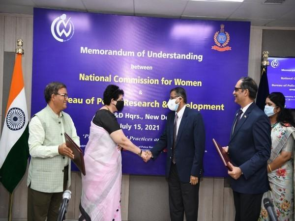 National Commission for Women signs MoU with Bureau of Police Research and Development (Photo/ANI)