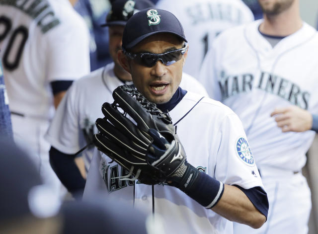 Ichiro Suzuki flashed some of the glove prowess that will eventually help send him to the Hall of Fame with a vintage play in left-field on Saturday. (AP)