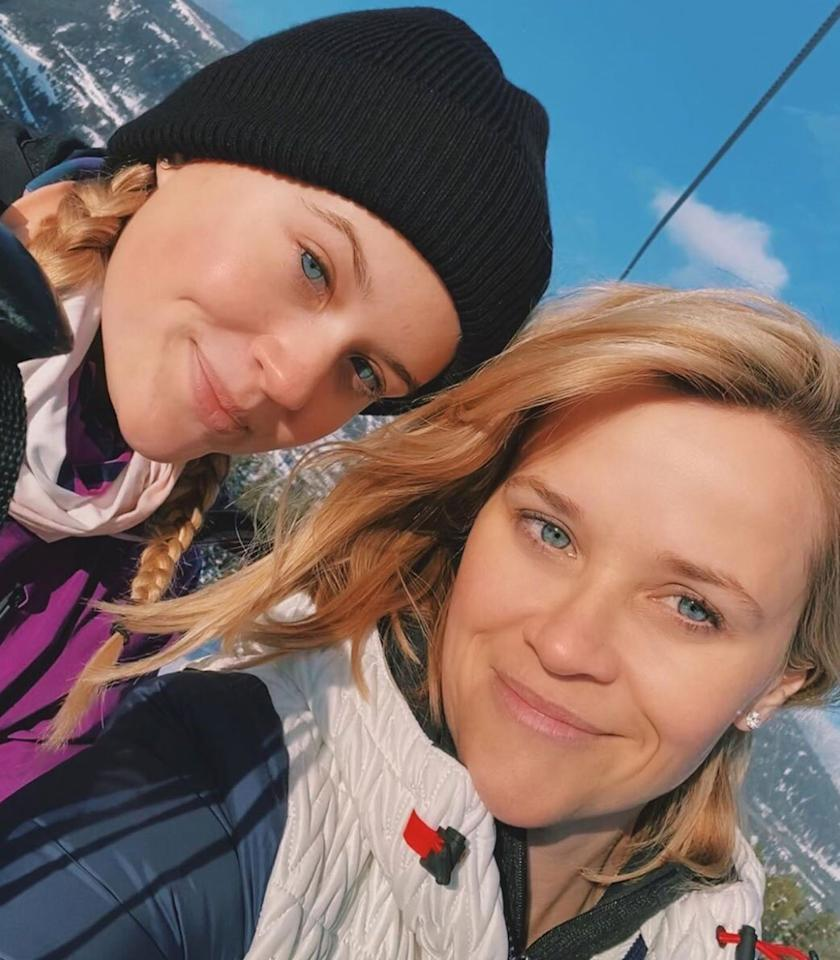 "The mother-daughter pair enjoyed a weekend ski trip together and captured a twinning <a href=""https://www.instagram.com/p/B8orIcvAzGT/"">selfie</a>."