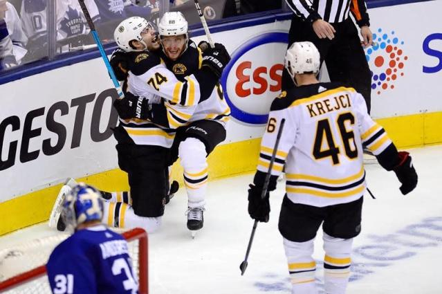 Marchand scores twice as Bruins force a seventh game with 4-2 win over Leafs