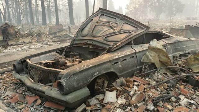 "<p>The owner of a garage that builds custom cars and his neighborhood were recovering from the wildfires that tore through California's wine country.</p><p>Scott Birdsall, who owns Chuckles Garage, has been posting videos of the destruction from the fire since October 9. Included in his posts were before and after photos of cars he has been restoring that were destroyed by the Tubbs Fire, which started burning on October 8. One truck, he said, was parked across the street before the fire. The truck, he posted, was to be featured in an ultimate tow rig that was to be featured in Diesel Power magazine.</p><p>Birdsall also has been <a href=""https://www.instagram.com/p/BaPsv2jDt8n/?taken-by=chucklesgarage"" target=""_blank"">collecting donations</a> to take to those affected by the fires and <a href=""https://www.gofundme.com/saucedo-donations"" target=""_blank"">working to raise money</a> for his neighbors.</p><p>The garage is lists itself as building hot rods, racing cars and custom builds on <a href=""https://www.chucklesgarage.com/"" target=""_blank"">its website</a>. It also has been featured in <a href=""https://www.motortrendondemand.com/detail/chuckles-garage-1949-ford-f1-/0_nm1xcwo7/"" target=""_blank"">television shows</a>, including on <a href=""https://www.facebook.com/chucklesgarage/photos/a.1833485523554324.1073741848.1653353891567489/1975054849397390/?type=3"" target=""_blank"">the Discovery Channel</a></p><p>The Tubbs fire had burned through 36,390 acres and was 70 percent contained on Monday. Some evacuation orders had been lifted. Credit: Instagram/Chuckles Garage via Storyful</p>"
