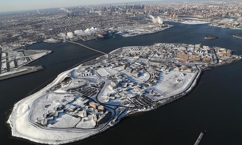 The Rikers Island jail complex: 11 jails on 413 acres, holding an inmate population of 7,000.