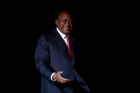 FILE PHOTO: Kenyan President Uhuru Kenyatta arrives to attend a visit and a dinner at the Orsay Museum on the eve of the commemoration ceremony for Armistice Day, 100 years after the end of the First World War, in Paris, France, November 10, 2018.  REUTERS/Benoit Tessier/File Photo