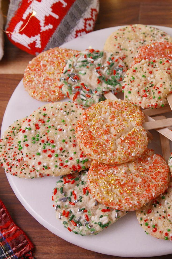 "<p>You NEED to try dunking these in hot cocoa.</p><p>Get the recipe from <a href=""https://www.delish.com/cooking/recipes/a50418/holiday-cookie-pops-recipe/"" rel=""nofollow noopener"" target=""_blank"" data-ylk=""slk:Delish"" class=""link rapid-noclick-resp"">Delish</a>. </p>"