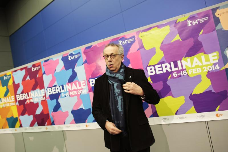 Dieter Kosslick, director of the International Film Festival Berlin, the Berlinale, poses for media prior to the annual program press conference in Berlin, Tuesday, Jan. 28, 2014. The 64. Berlinale will take place at the German capital from Thursday, Feb. 6, until Sunday, Feb. 16, 2014. (AP Photo/Markus Schreiber)