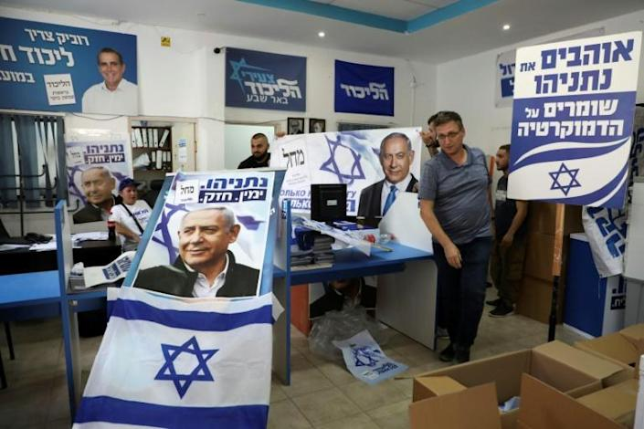 Israelis are going to the polls for the second time in a year, after Prime Minister Netanyahu's Likud party failed to form a coalition (AFP Photo/HAZEM BADER)