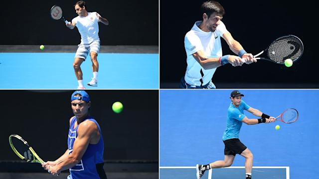 It appears as though Roger Federer and Novak Djokovic carry the hopes of the 'Big Four' at the Australian Open.
