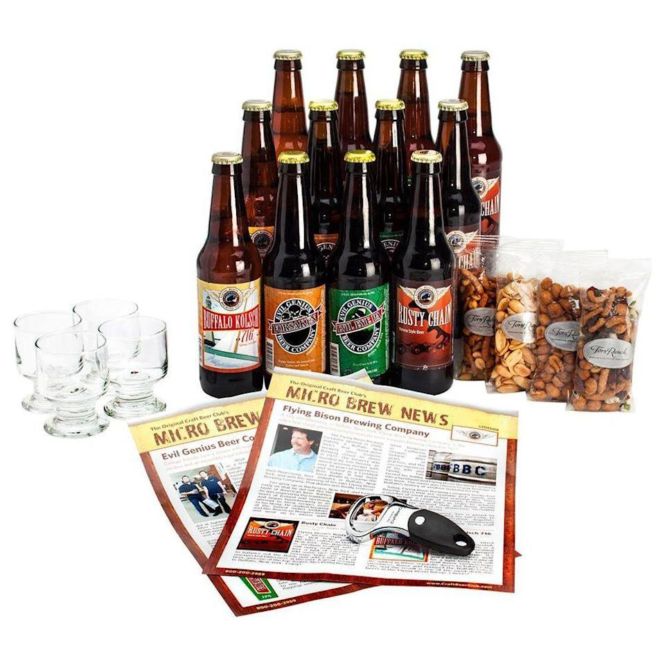 """<p><strong>The Original Craft Beer Club</strong></p><p>craftbeerclub.com</p><p><strong>$43.00</strong></p><p><a href=""""https://go.redirectingat.com?id=74968X1596630&url=https%3A%2F%2Fcraftbeerclub.com%2Fbeer-club%2Fcraft-beer-club&sref=https%3A%2F%2Fwww.bestproducts.com%2Flifestyle%2Fg32259359%2Flast-minute-fathers-day-gifts%2F"""" rel=""""nofollow noopener"""" target=""""_blank"""" data-ylk=""""slk:Shop Now"""" class=""""link rapid-noclick-resp"""">Shop Now</a></p><p>Stock Dad's fridge with a monthly supply of <a href=""""https://www.bestproducts.com/eats/drinks/g3244/best-beer-gifts/"""" rel=""""nofollow noopener"""" target=""""_blank"""" data-ylk=""""slk:craft beer"""" class=""""link rapid-noclick-resp"""">craft beer</a> from the country's best microbreweries. He'll love sampling from a surprise shipment of unique lagers, ales, and stouts, but on the occasion that he has a specific craving, this beer club can also accommodate requests.</p><p><strong>More: </strong><a href=""""https://www.bestproducts.com/lifestyle/g1453/fathers-day-gifts-ideas/"""" rel=""""nofollow noopener"""" target=""""_blank"""" data-ylk=""""slk:Surprise Dad With a Memorable Father's Day Gift"""" class=""""link rapid-noclick-resp"""">Surprise Dad With a Memorable Father's Day Gift</a></p>"""