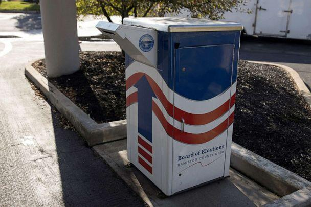 PHOTO: A ballot drop box is seen outside of the Hamilton County Board of Elections building in Cincinnati, Ohio, Oct. 6, 2020. (Megan Jelinger/Reuters)