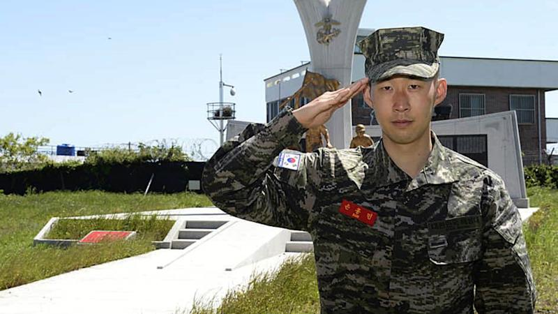 Tottenham star Son completes mandatory military service in South Korea