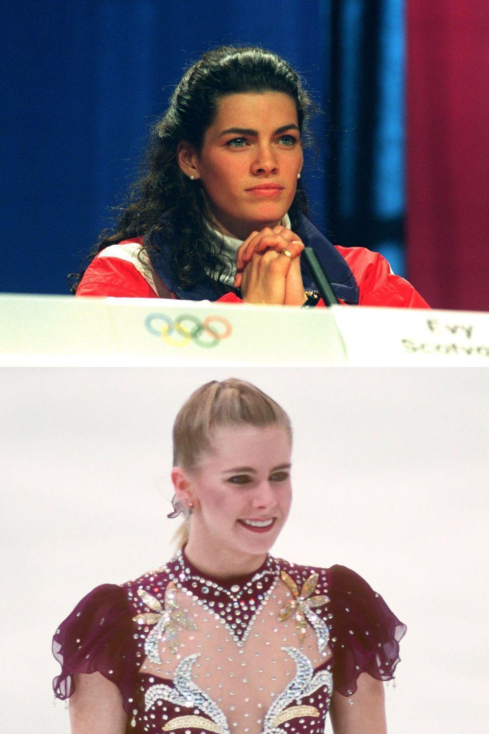 "<p>These ice princesses were both at the top of their game when <a href=""http://www.marieclaire.com/celebrity/a25649/tonya-harding-nancy-kerrigan-feud/"" rel=""nofollow noopener"" target=""_blank"" data-ylk=""slk:Kerrigan was brutally attacked"" class=""link rapid-noclick-resp"">Kerrigan was brutally attacked</a> after a practice for the U.S. Figure Skating Championships. As Kerrigan lay on the ground famously crying, <a href=""https://youtu.be/voUMQrLy_uY?t=32s"" rel=""nofollow noopener"" target=""_blank"" data-ylk=""slk:&quot;Why? Why? Why?&quot;"" class=""link rapid-noclick-resp"">""Why? Why? Why?""</a> the scandal became a national obsession. As it turned out, Harding's ex-husband had hired help to break Kerrigan's leg so rival Tonya could skate her way to victory at the Olympics six weeks later. With a limp and a bruise, Kerrigan was unable to compete at the Championships the next day, handing Harding the win. But Kerrigan had the last laugh, recovering in time for the Olympics and defeating her rival.</p>"