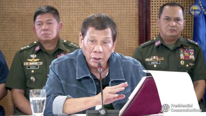 """Shoot them dead"": Duterte orders police to kill Filipinos who defy coronavirus lockdown"