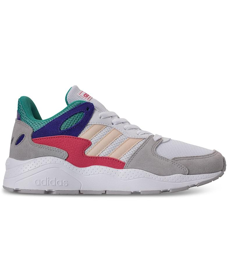 """<p>The colorful accents on these <a href=""""https://www.popsugar.com/buy/Adidas-Crazychaos-Casual-Sneakers-490931?p_name=Adidas%20Crazychaos%20Casual%20Sneakers&retailer=macys.com&pid=490931&price=75&evar1=fab%3Aus&evar9=46619030&evar98=https%3A%2F%2Fwww.popsugar.com%2Ffashion%2Fphoto-gallery%2F46619030%2Fimage%2F46619236%2FAdidas-Crazychaos-Casual-Sneakers&list1=shopping%2Cfall%20fashion%2Cshoes%2Csneakers%2Cmacys&prop13=mobile&pdata=1"""" rel=""""nofollow"""" data-shoppable-link=""""1"""" target=""""_blank"""" class=""""ga-track"""" data-ga-category=""""Related"""" data-ga-label=""""https://www.macys.com/shop/product/adidas-womens-crazychaos-casual-sneakers-from-finish-line?ID=10208679&amp;CategoryID=63268&amp;cm_kws_ac=adidas%20sneakers%20women#fn=sp%3D1%26spc%3D85%26ruleId%3D78%26kws%3Dadidas%20women%20sneakers%26ackws%3Dadidas%20sneakers%20women%26searchType%3Dac%26searchPass%3DexactMultiMatch%26slotId%3D20"""" data-ga-action=""""In-Line Links"""">Adidas Crazychaos Casual Sneakers </a> ($75) make them especially cool.</p>"""