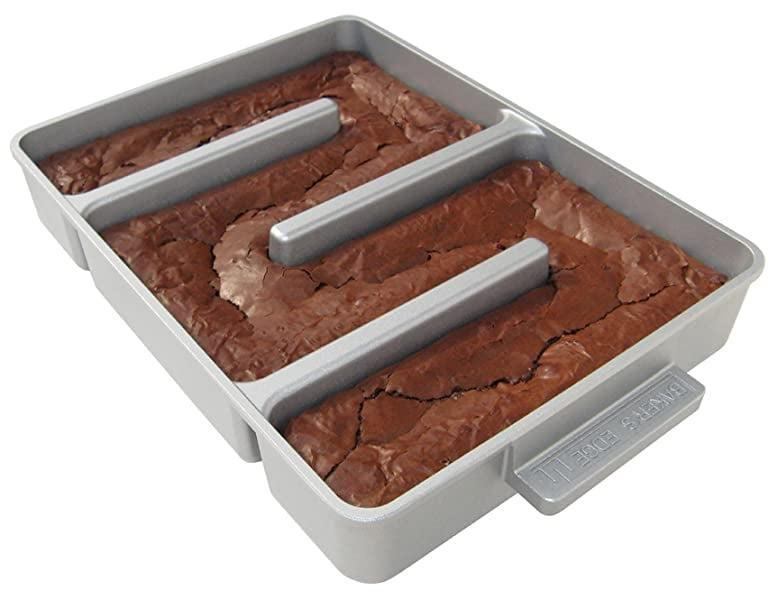 <p>If you're shopping for a loved one who loves to bake the yummiest treats, they'll love experimenting with this <span>Baker's Edge Nonstick Edge Brownie Pan</span> ($37, originally $40). We can all agree that the best part of a brownie are the edges, and with this pan it's nothing but chewy, crispy edge!</p>