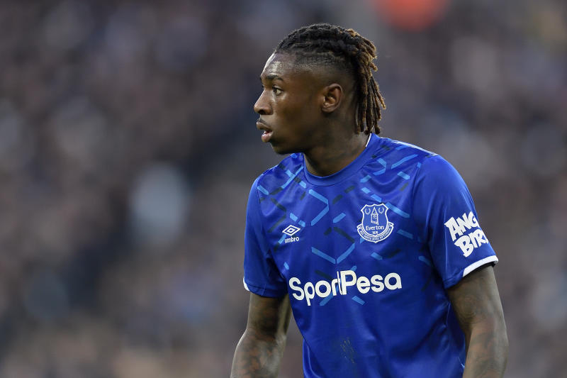 LONDON, ENGLAND - JANUARY 18: Moise Kean of Everton during the Premier League match between West Ham United and Everton at London Stadium on January 18, 2020 in London, England. (Photo by Tony McArdle /Everton FC via Getty Images)