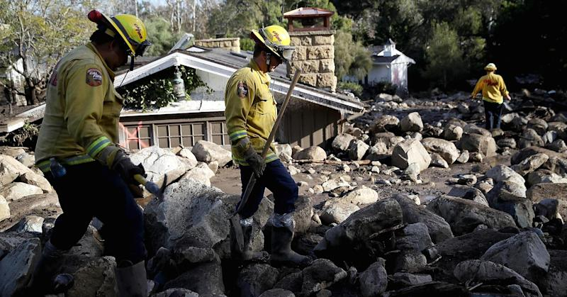 Up to 43 people still listed as missing from destructive mudslide in California; 17 dead