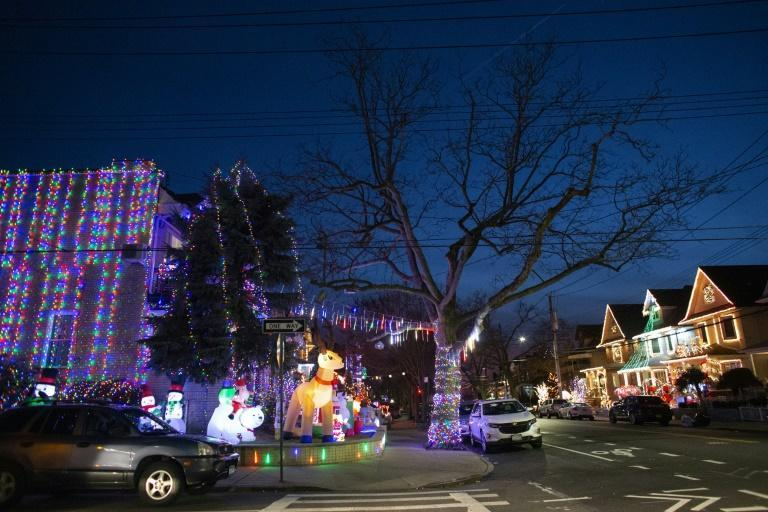 Brooklyn residents who normally would visit their families are instead playing tourist in their own backyards, like at the Dyker Heights light festivities