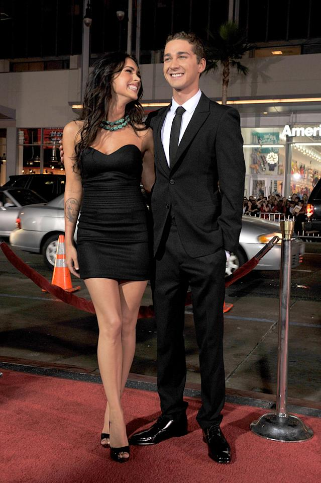 "<a href=""http://movies.yahoo.com/movie/contributor/1808488000"">Megan Fox</a> and <a href=""http://movies.yahoo.com/movie/contributor/1804503925"">Shia LaBeouf</a> at the Los Angeles premiere of <a href=""http://movies.yahoo.com/movie/1809955918/info"">Eagle Eye</a> - 09/16/2008"