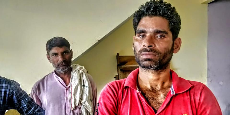 """That is Nisar Ahmed, he is angry and upset with the """"constant instigation by the Hindus,"""" he says."""
