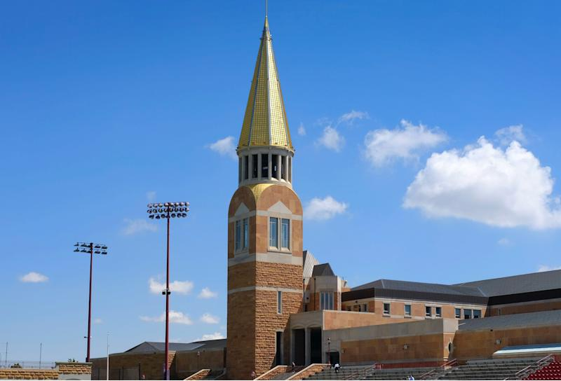 The University of Denver has suspended 38 members of its swimming and diving teams. (Joe Mahoney/Getty Images)