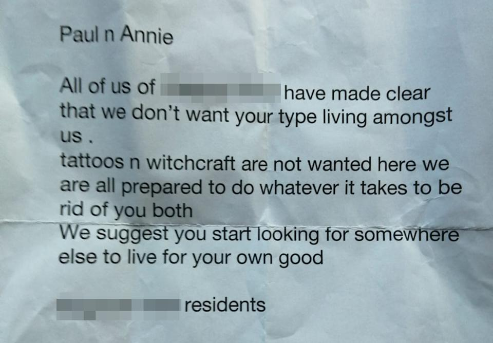 They have also received a letter saying they should move out from the cul de sac where Annie has lived since 2004. (Caters)