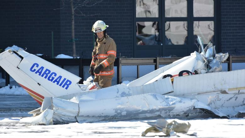 1 dead after planes collide above shopping centre on Montreal's South Shore