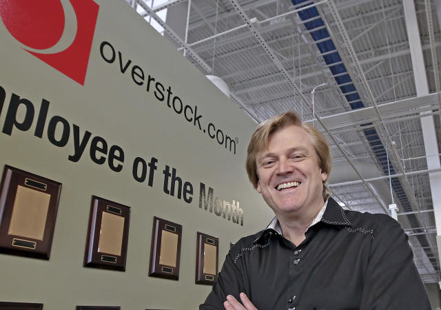 OverStock CEO Patrick Byrne has a retail business but has been a major player in cryptocurrency for years. (AP Photo/George Frey, file)