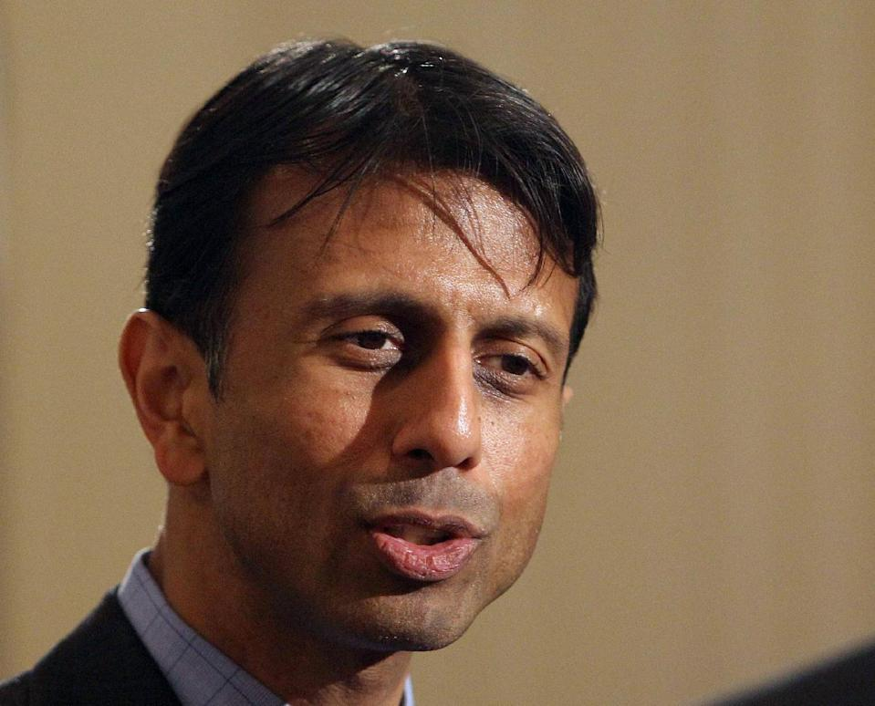 FILE - In this May 10, 2013 file photo, Louisiana Gov. Bobby Jindal speaks in Manchester, N.H. When the U.S. Supreme Court gutted the Voting Rights act last week, it handed Republicans tough questions with no easy answers over how, and where, to attract voters even GOP leaders say the party needs to stay nationally competitive. The decision caught Republicans between newfound state autonomy that conservatives covet and the law's popularity among minority, young and poor voters who tend to align with Democrats. It's those voters that Republicans are eyeing to expand and invigorate the GOP's core of older, white Americans. (AP Photo/Jim Cole, File)