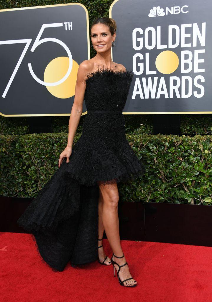 <p>The<em> America's Got Talent</em> and <em>Project Runway</em> personality attends the 75th Annual Golden Globe Awards at the Beverly Hilton Hotel in Beverly Hills, Calif., on Jan. 7, 2018. (Photo: Steve Granitz/WireImage) </p>