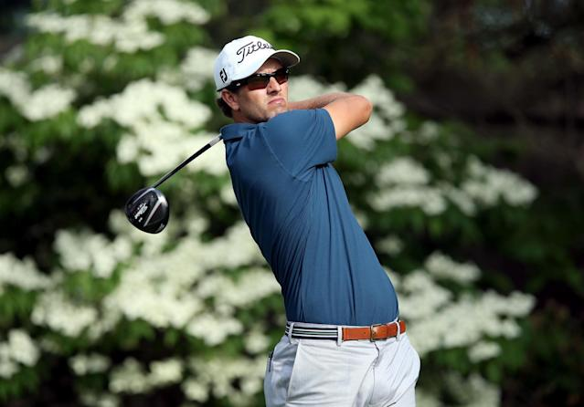 DUBLIN, OH - MAY 30: Adam Scott of Australia hits his tee shot on the par 4 13th hole during the first round of the Memorial Tournament presented by Nationwide Insurance at Muirfield Village Golf Club on May 30, 2013 in Dublin, Ohio. (Photo by Andy Lyons/Getty Images)