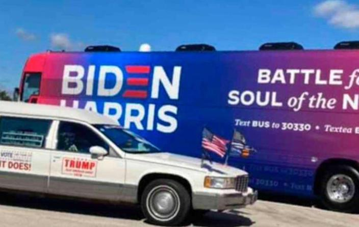 FBI contradicts Trump tweet, says it is reviewing Biden campaign bus swarmed by 'Trump train' caravan