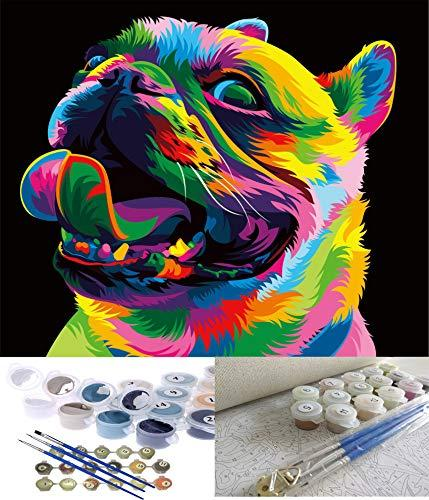 """<br><br><strong>Jack West</strong> Acrylic Paint by Numbers Kit, 16 x 20 (Cute Dog), $, available at <a href=""""https://amzn.to/3dKNRdi"""" rel=""""nofollow noopener"""" target=""""_blank"""" data-ylk=""""slk:Amazon"""" class=""""link rapid-noclick-resp"""">Amazon</a>"""