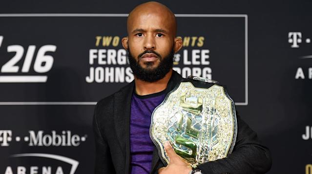 """<h3><strong>Fighter of the Year: Demetrious Johnson</strong></h3><p>A lot of fighters had banner years in 2017 and there are a lot of solid resumes and claims to the title of """"Fighter of the Year.""""</p><p>Max Holloway unified the featherweight strap and defeated the division's GOAT twice. Robert Whittaker fought two of the toughest middleweights on the planet, Ronaldo """"Jacare"""" Souza and Yoel Romero, winning the interim title and eventually being promoted to champion.</p><p>Ryan Bader went 2-0 in Bellator MMA, including winning the light heavyweight title. Volkan Oezdemir went from UFC debut to light heavyweight title shot at <em>UFC 220</em> in January 2018 in one year with a four-fight win streak. Paul Felder had three wins, all via finish and never saw a third round.</p><p>But this year's fighter of the year is <a href=""""https://www.si.com/mma/2017/05/16/demetrious-johnson-ufc-mma"""" rel=""""nofollow noopener"""" target=""""_blank"""" data-ylk=""""slk:flyweight champion Demetrious Johnson"""" class=""""link rapid-noclick-resp"""">flyweight champion Demetrious Johnson</a>.</p><p>Johnson successfully defend his title twice this year, both via the armbar and both earning him """"Performance of the Night"""" bonuses.</p><p>When he defeated Wilson Reis at <em>UFC on Fox</em> in April, Johnson tied Anderson Silva's record for consecutive title defenses. At <em>UFC 216</em> in December, Johnson broke the record and in stunning fashion.</p><p>While the stigma of a cleared out division and lesser opponents unfairly looms over Johnson's title reign, he dominated opponents and shocked MMA fans around the world with a never before seen belly-to-back suplex with a mid-air transition into the armbar submission.</p><p>With the record locked up, Johnson is out to defend his title in 2018 and perhaps add to his legacy with a super fight against bantamweight champion T.J. Dillashaw.</p><h3><strong>Honorable Mention</strong></h3><p>Robert Whittaker – 2-0 over top middleweights and won the interim real middleweight t"""